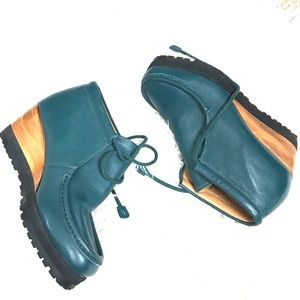 Ecoté Urban Outfitters Meeko Blue Leather Booties